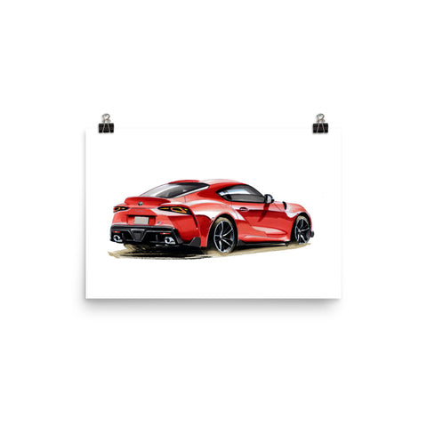 Supra MK5 | Poster - Reproduction of Original Artwork by Our Designers - MAROON VAULT STUDIO