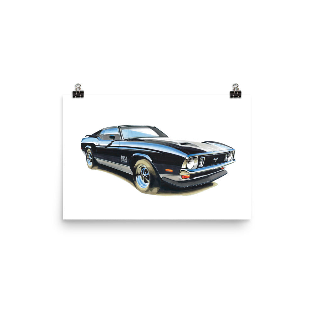 Mustang Mach 1 | Poster - Reproduction of Original Artwork by Our Designers - MAROON VAULT STUDIO