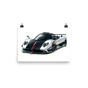 Zonda Poster [Black/White/Red] | Reproduction of Hand Made Artwork by our Design Team - MAROON VAULT STUDIO