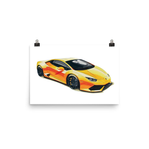 Huracan Poster [Yellow] | Reproduction of Original Artwork by Our Design Team - MAROON VAULT STUDIO