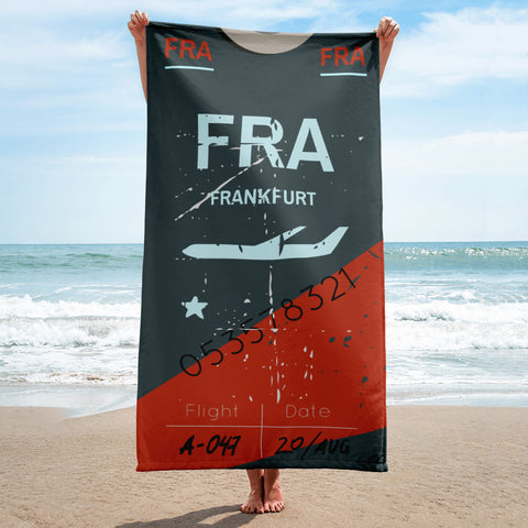 Frankfurt Luggage Tag | Beach Towel - MAROON VAULT STUDIO