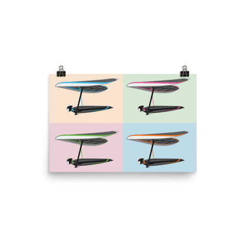 Soft Pastel Four Pilots | Poster -Photo Paper - MAROON VAULT STUDIO