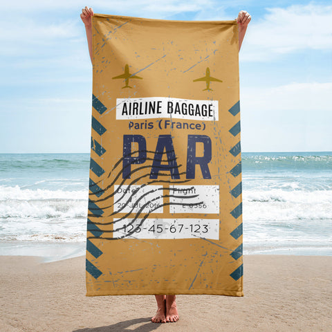 Paris Luggage Tag | Beach Towel - MAROON VAULT STUDIO