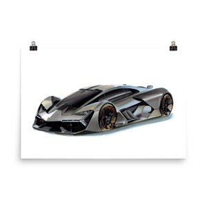 Terzo Millennio | Poster - Reproduction of Original Artwork by Our Designers - MAROON VAULT STUDIO