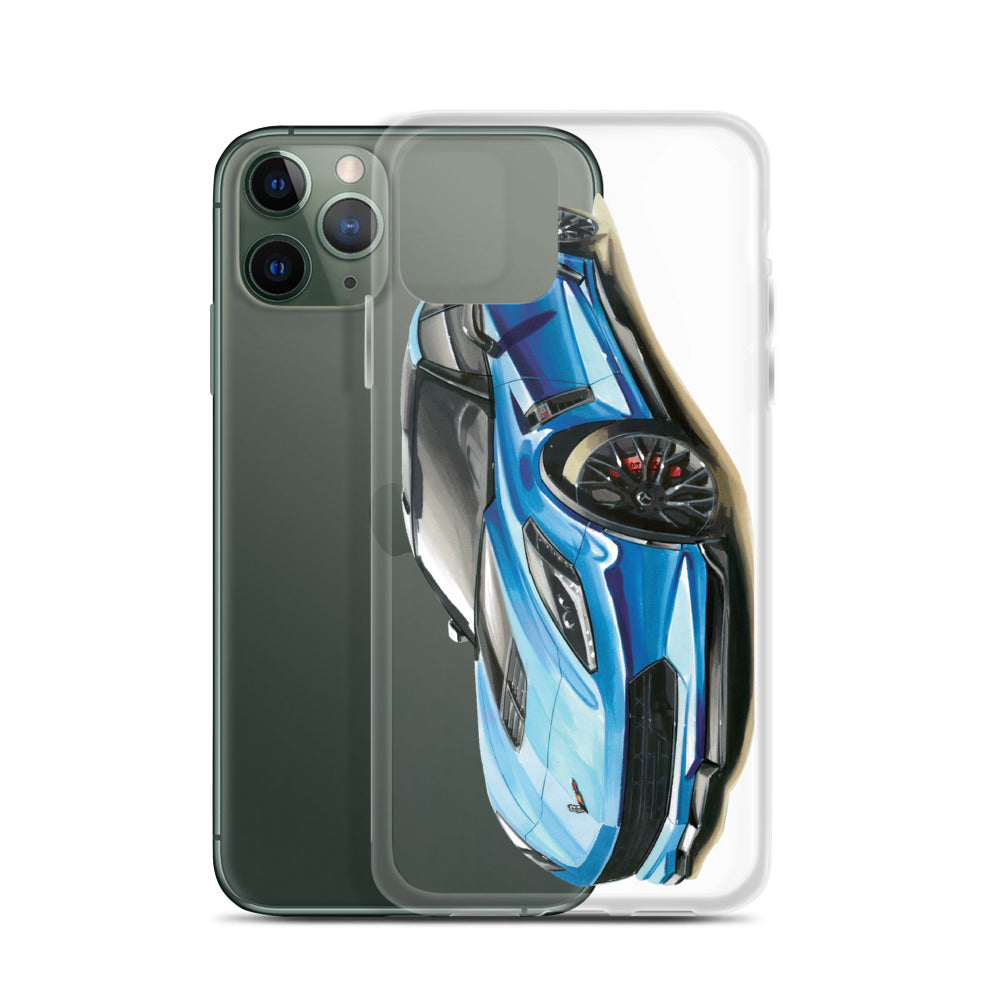 C7 [Blue] iPhone Case | Original Artwork by Our Designers - MAROON VAULT STUDIO