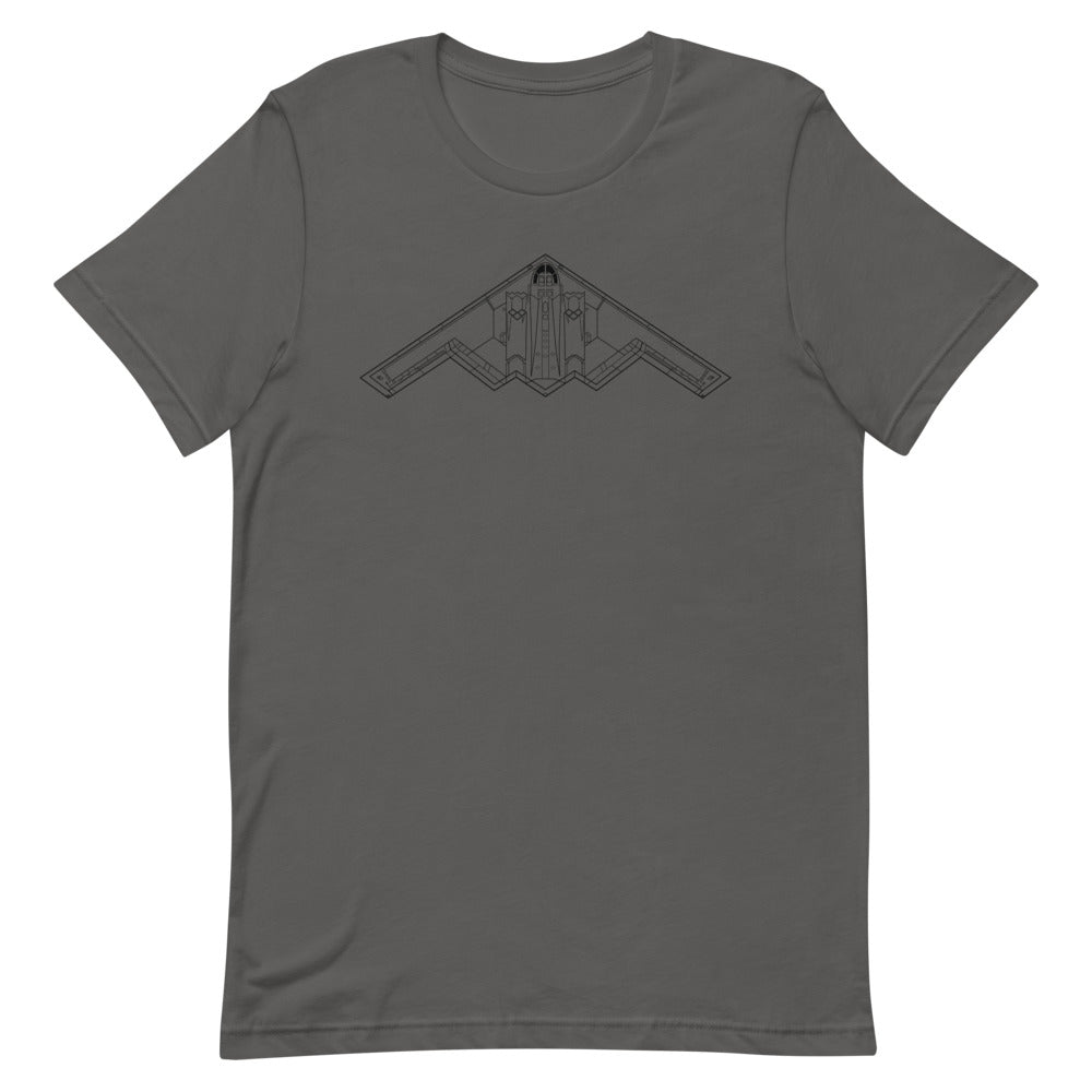 Thermal Pilot - B-2 Spirit | Short-Sleeve Unisex T-Shirt - MAROON VAULT STUDIO