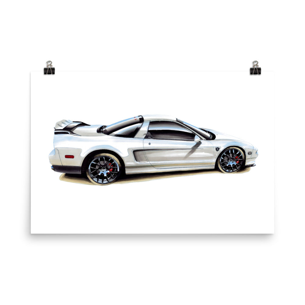 NSX Poster [White] | Reproduction of Original Artwork by Our Design Team - MAROON VAULT STUDIO