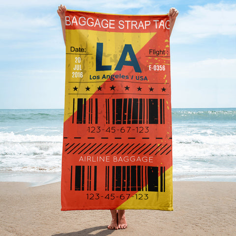 Los Angeles Luggage Tag | Beach Towel - MAROON VAULT STUDIO