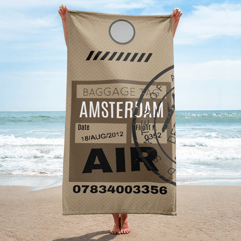 Amsterdam Luggage Tag | Beach Towel - MAROON VAULT STUDIO