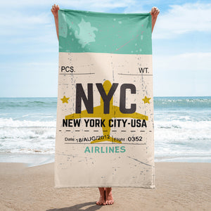 New York City Luggage Tag | Beach Towel - MAROON VAULT STUDIO
