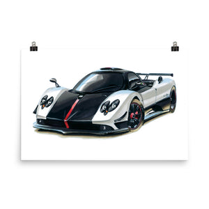 Zonda | Poster - Reproduction of Original Artwork by Our Designers - MAROON VAULT STUDIO