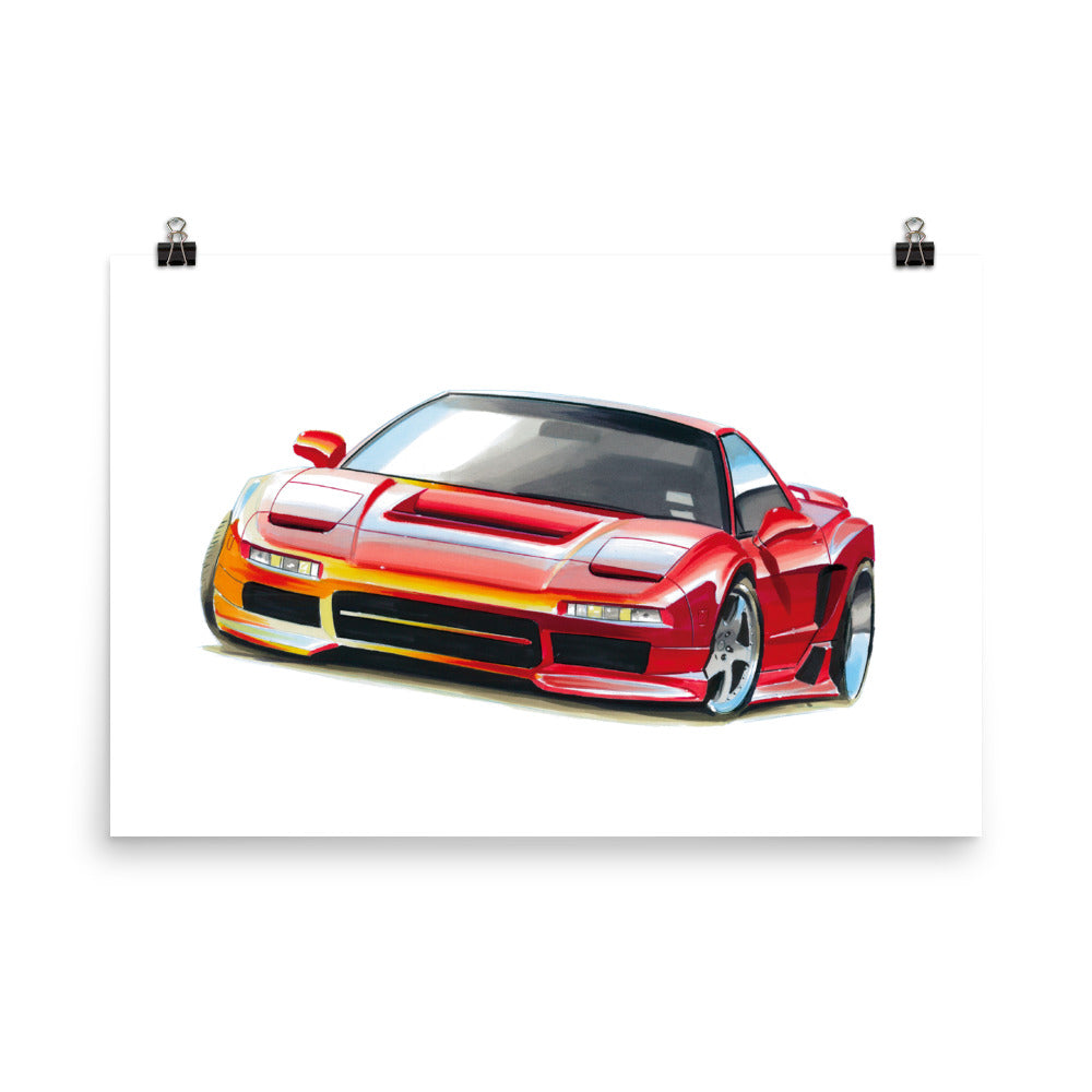 NSX - Red | Poster - Reproduction of Original Artwork by Our Designers - MAROON VAULT STUDIO