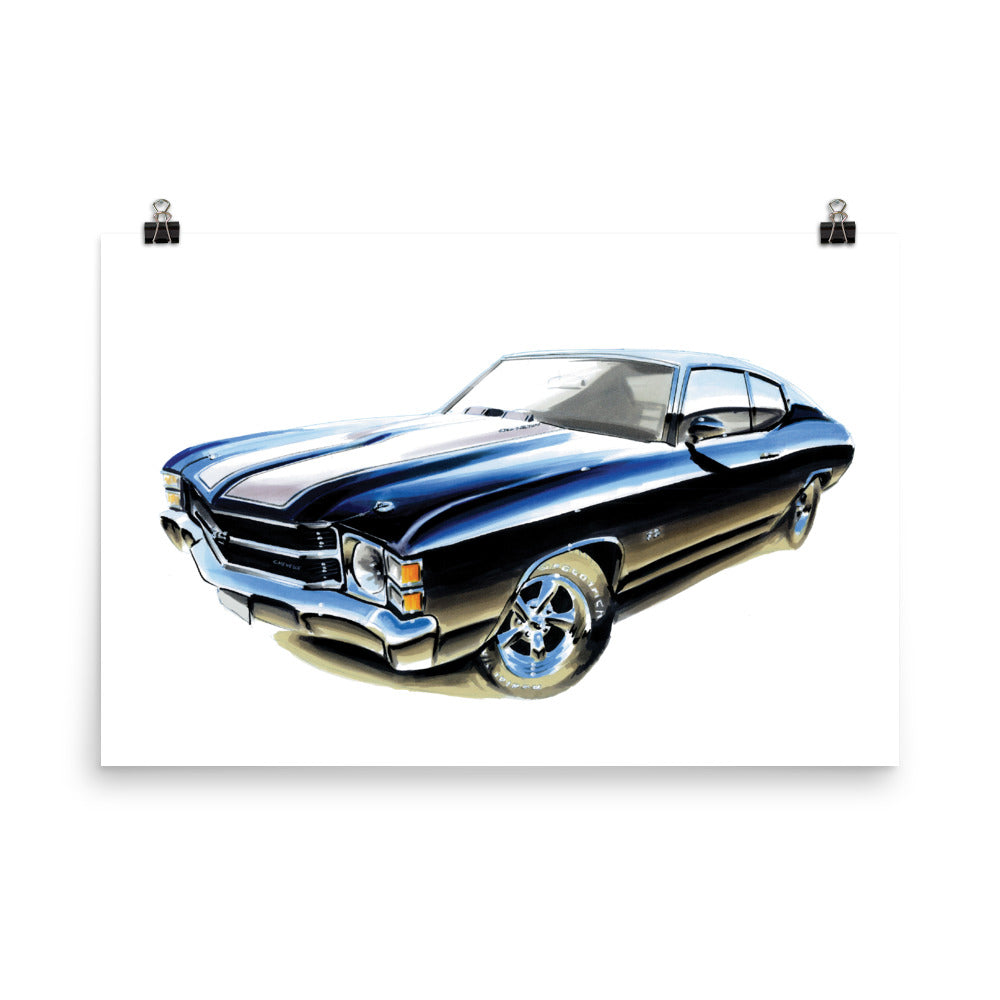 Chevelle Poster [Black] | Reproduction of Original Artwork by Our Design Team - MAROON VAULT STUDIO