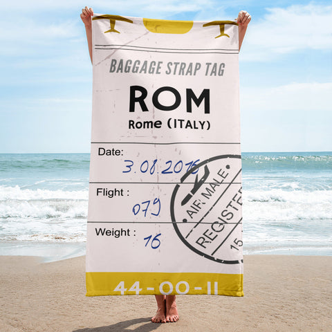 Rome Luggage Tag | Beach Towel - MAROON VAULT STUDIO