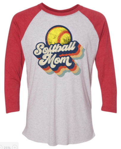 Vintage Softball Mom 3/4