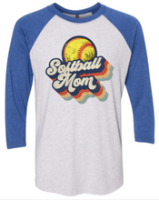 Load image into Gallery viewer, Vintage Softball Mom 3/4
