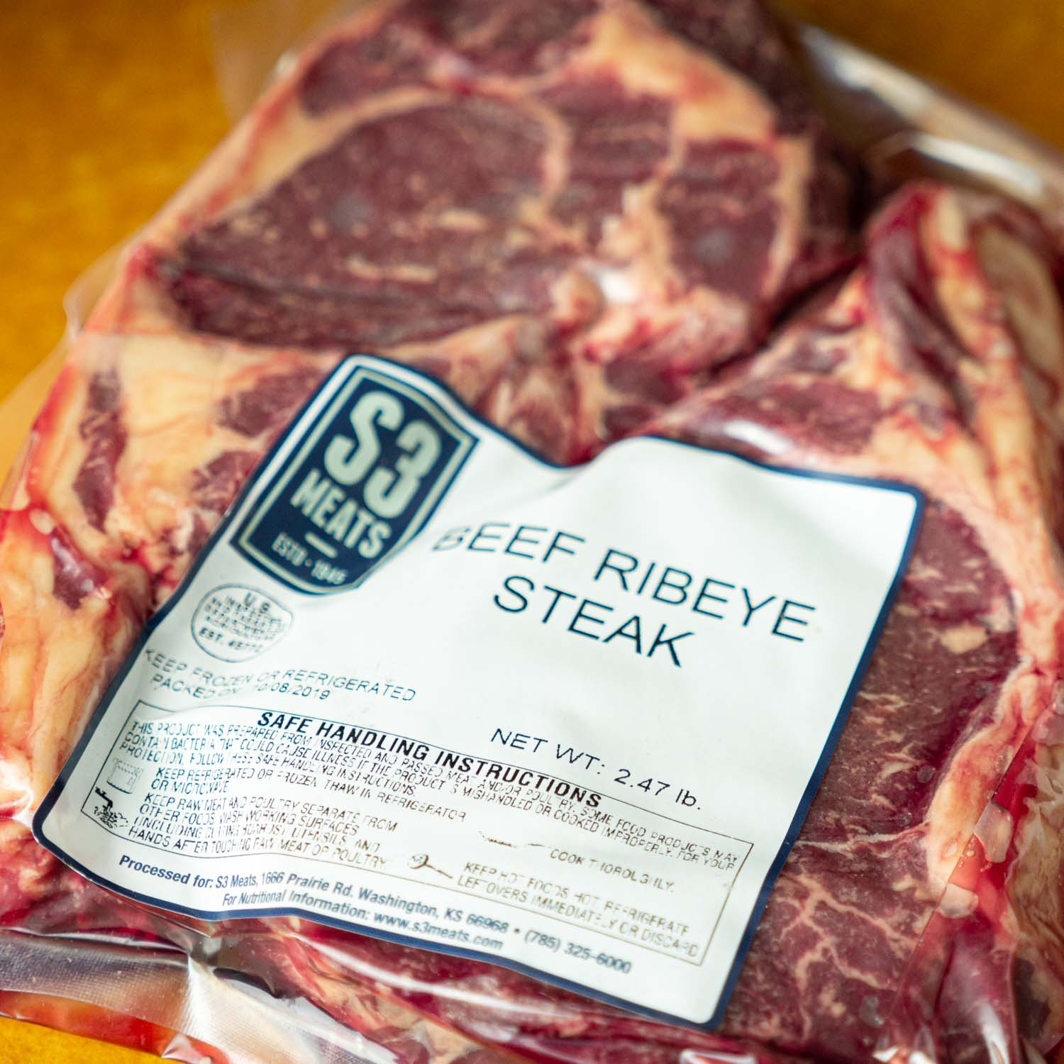 Ribeye - 2 steak pack