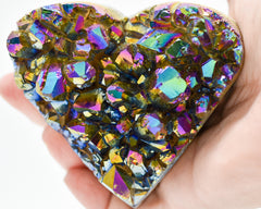Whyte Quartz Amethyst Druzy Rainbow Heart Shape Best Unique Gift