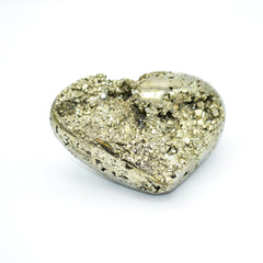 Whyte Quartz Pyrite Druzy Heart Handmade natural crystal stone gem metaphysical properites for love abundance business success