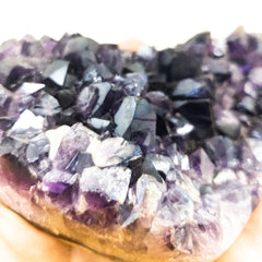 Whyte Quartz Extra Large Amethyst Druzy Heart with Angel Aura coating Unique gift love happy heart shape