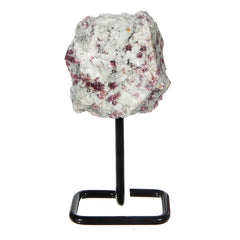 Whyte Quartz Pink Tourmaline on metal base display piece great unique gift for Valentine's Day