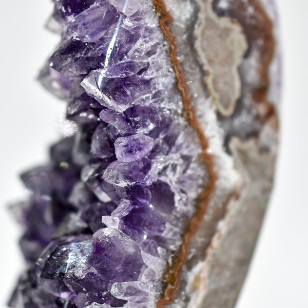 Grade AAA Amethyst Display Piece on Metal Stand - WHYTE QUARTZ