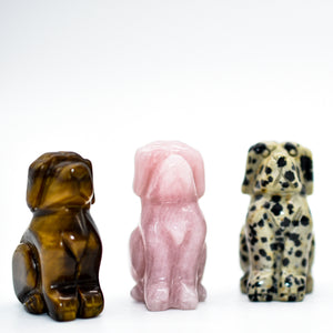 Mini Crystal Carved Dogs - WHYTE QUARTZ