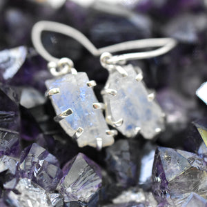 Moonstone Sterling Silver Earrings - WHYTE QUARTZ