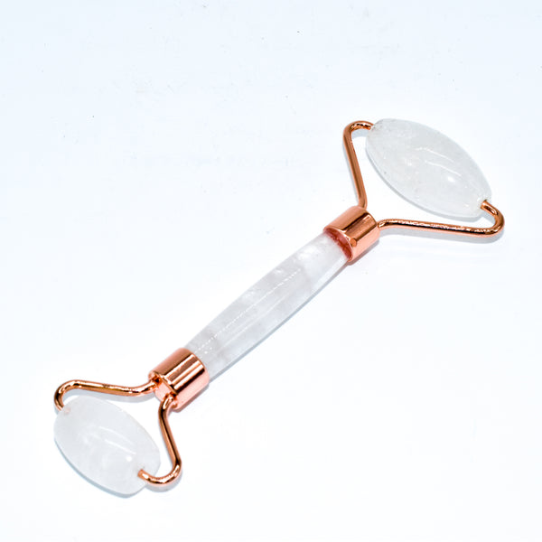 Copper & Crystal Face Roller - Massager - WHYTE QUARTZ