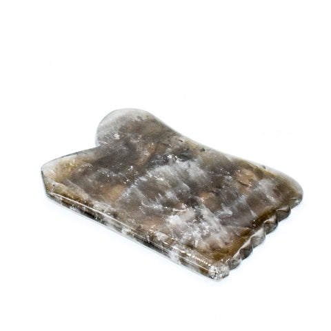 Smokey Quartz Gua Sha Massage Tool - WHYTE QUARTZ