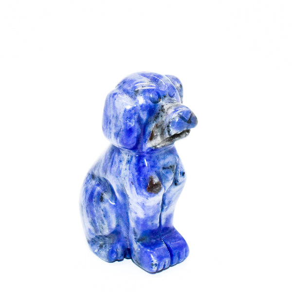 Mini Crystal Carved Dogs