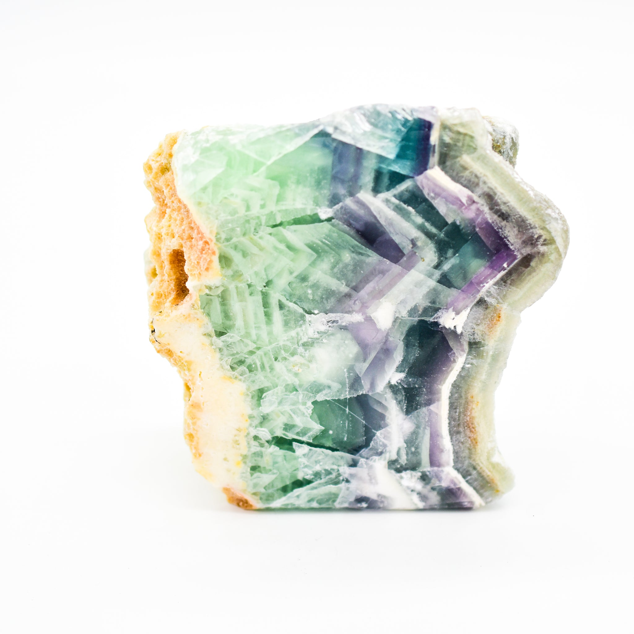Rainbow Fluorite Natural and Polished Display Crystal
