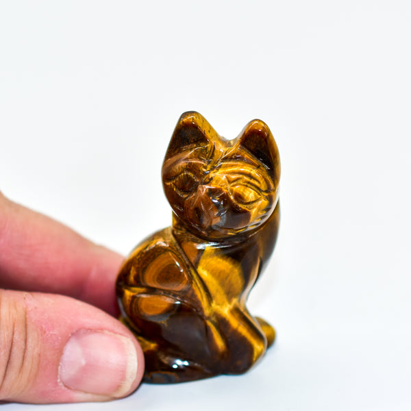 Cat Crystal Carvings