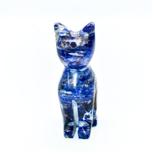 Natural Stone Cat Statues - WHYTE QUARTZ
