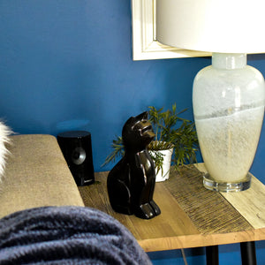 Big Black Onyx Cat Statue