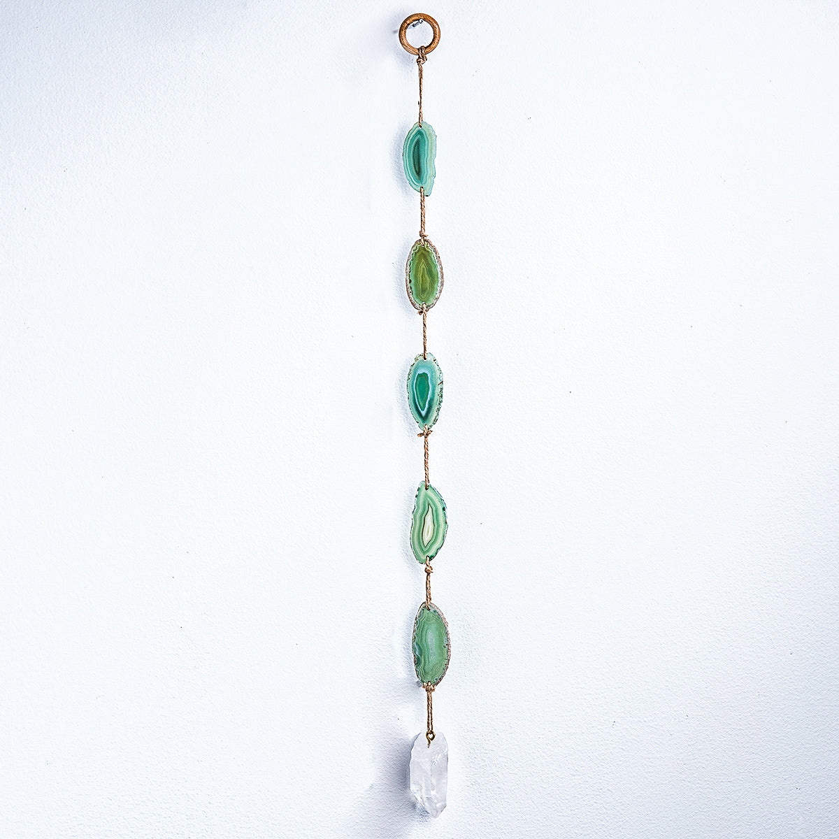 "Green Agate 24"" Wall Hanging - WHYTE QUARTZ"