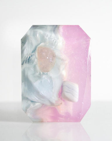Gemini Crystal Soap - WHYTE QUARTZ