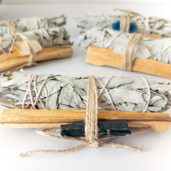 Palo Santo Sage Crystal Bundle