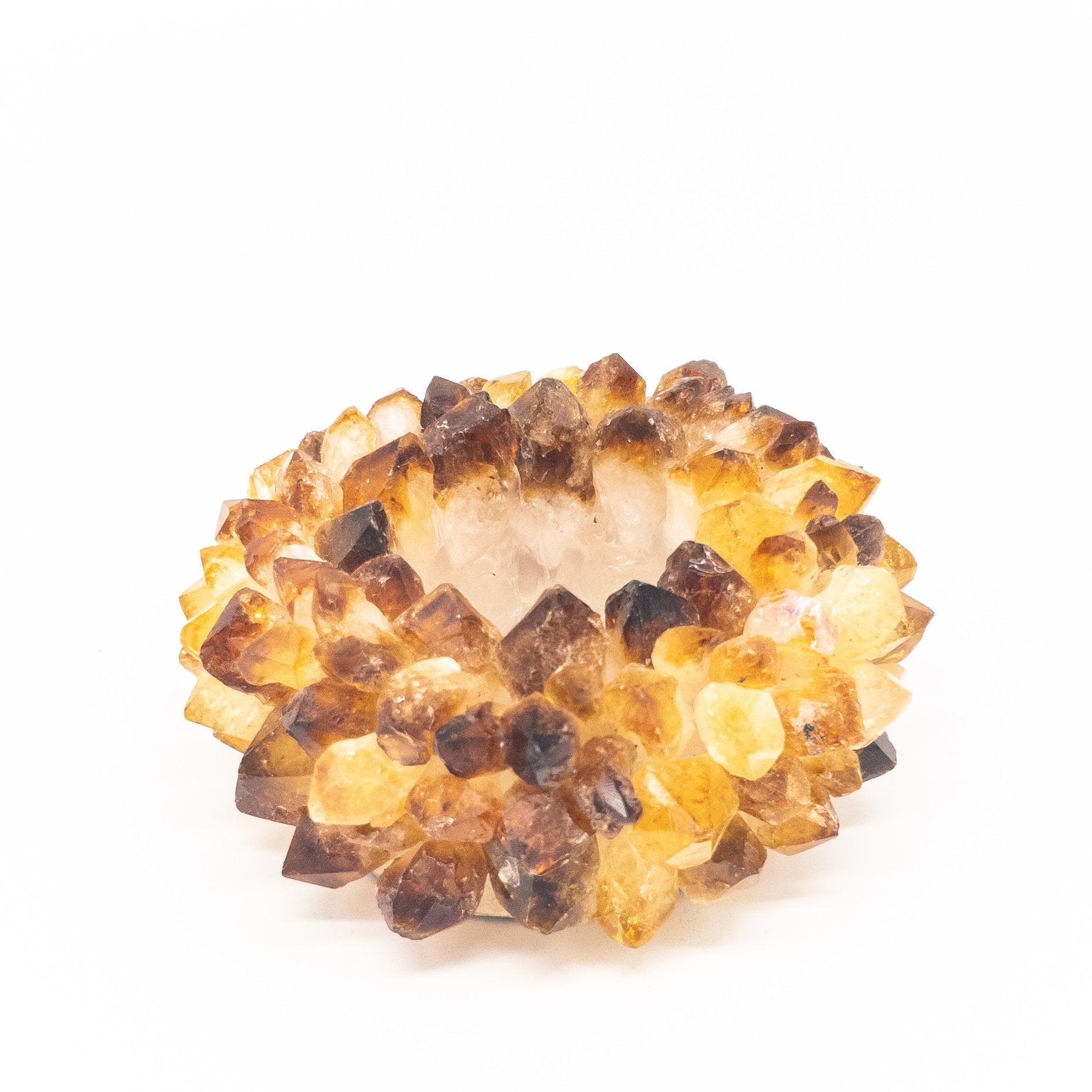Citrine Points Candle Holder - WHYTE QUARTZ