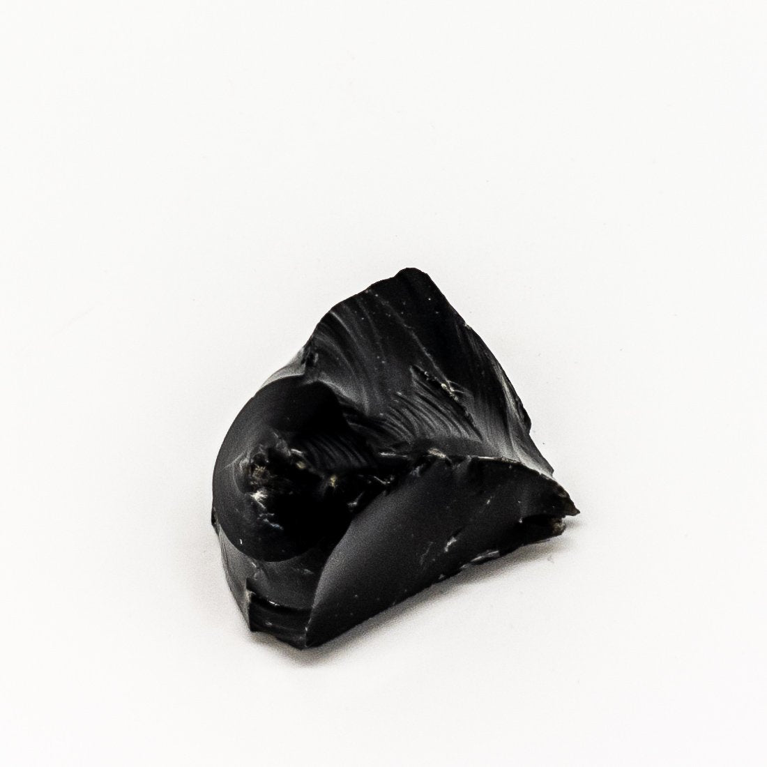 black obsidian  rough stone