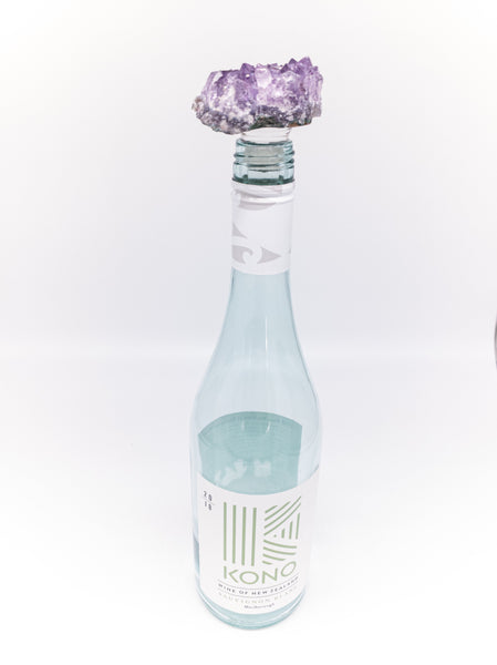 Amethyst Druzy Cluster Bottle Stopper