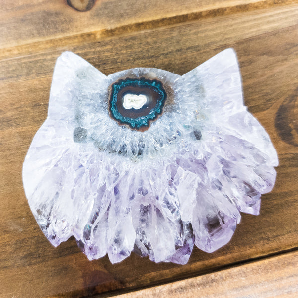 NEW! Large Amethyst Slice Cat Heads