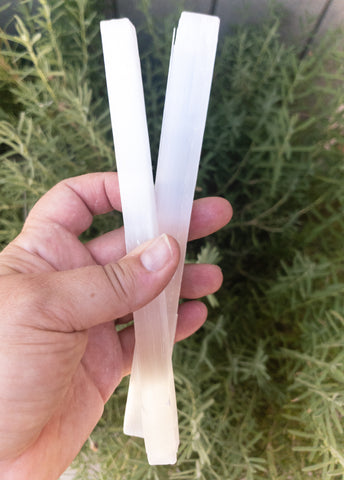 Selenite Sticks 8""