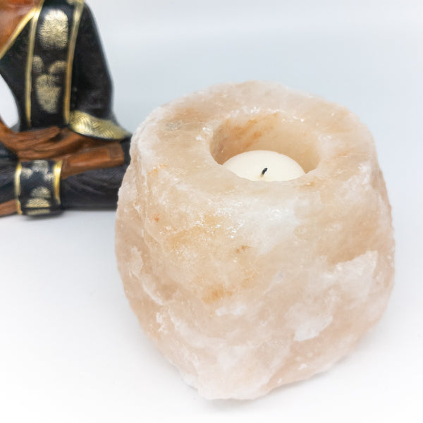 NEW! Pink Himalayan salt candle holders