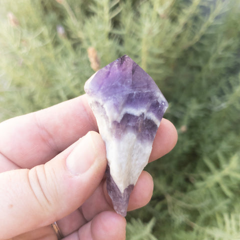NEW! Gorgeous Chevron Amethyst Points
