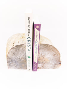 Natural Agate Book Ends - WHYTE QUARTZ