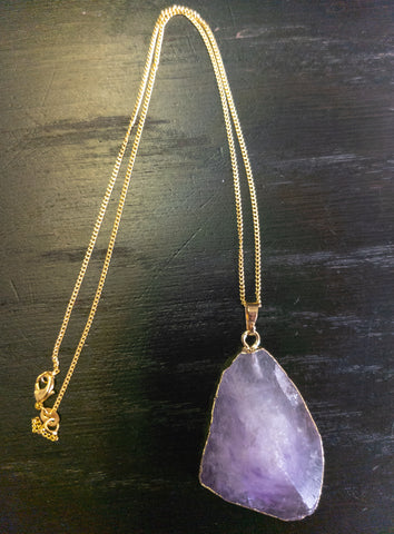 Amethyst Point Necklace - WHYTE QUARTZ