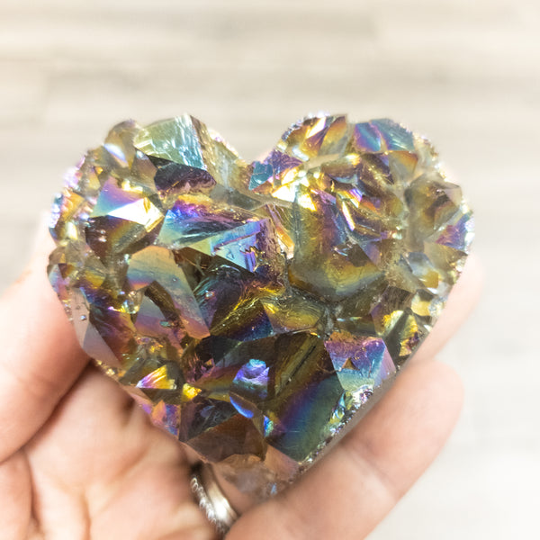 Rainbow Amethyst Druzy Heart-Medium - WHYTE QUARTZ