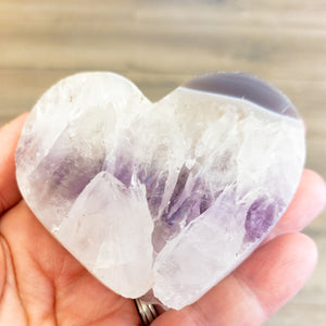 Extra Large Heart Shaped Amethyst Slice - WHYTE QUARTZ
