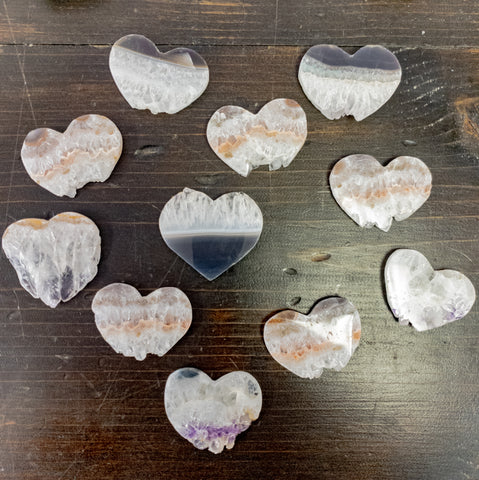 Heart Shaped Amethyst Slices - WHYTE QUARTZ